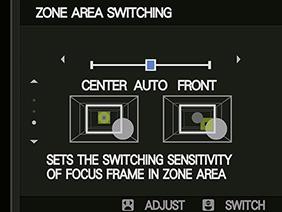 Theo dõi vùng chuyển động của chế độ AF-C trên máy ảnh X-T2