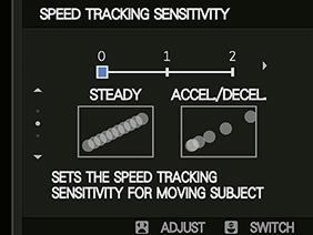 Tốc độ theo dõi chủ thể của AF-C