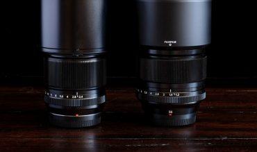So sánh ống kính Fujinon 60mm f2.4 Macro và 56mm F1.2 R
