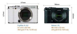 Nên mua Fujifilm X-A2 hay Nikon 1 J5